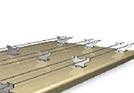 BIOTEC Taubenabwehr –Taubenabwehrspitzen/Spikes V2A, Taubenabwehrdrähte V2A, Taubenabwehrnetz mit V2A Rahmenseil